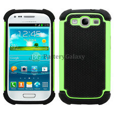 LOT Hybrid Rugged Rubber Hard Case Cover Skin for Samsung Galaxy S3 S III 3