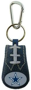 Dallas Cowboys Color Leather Football Keychain [New] NFL Key Chain Jewelry