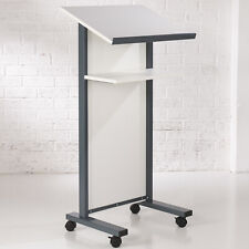 More details for white panel front lectern
