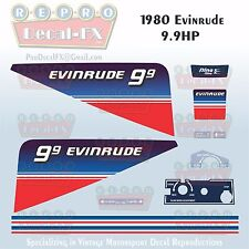 1980 Evinrude 9.9 HP Outboard Reproduction 11 Piece Marine Vinyl Decals 10RCS