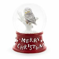White Owl Miniature Snow Globe
