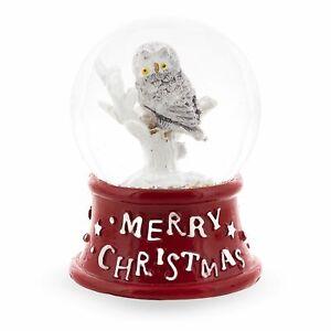 White Owl Mini Water Snow Globe
