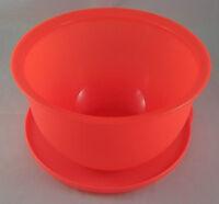 Tupperware J 51 Junge Welle 2,5 l Schüssel mit Deckel Neon Orange Neonorange Neu