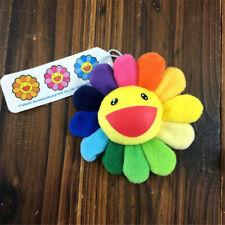 Takashi Murakami Kiki Kaikai Brooch Flower Rainbow Pin Badge Strap Plush Gift