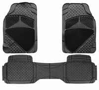 3pc Heavy Duty Rubber & Carpet Floor Mats fits Land Rover Discovery Freelander