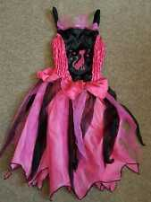 Childrens Pink & Black Cat Image  Dress Great for Halloween Fancy Dress Costume