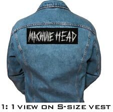 Machine Head band embroidered patches two sizes