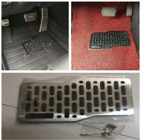 Universal Car Foot Rest Floor Mats Stainless Steel Heel Plate Pedal Carpet Pad