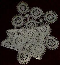 Vintage, White, Crocheted Table Runner/Scarf