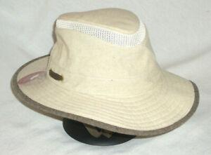 TILLEY AIRFLO MASH-UP HAT TMH55 SAND/BROWN UPF50+ 7-3/8 FISHING HIKING TRAVEL