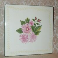 Vintage Waverly TRIVET Garden Room Yellow Pink Green White