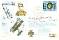 HA21 Major Mannock VC RAF cover signed Battle of Britain 85 Sq CO Oliver DSO DFC