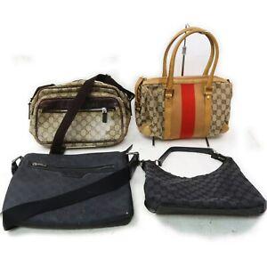 Gucci PVC Canvas Shoulder Bag Hand Bag 4 pieces set 519298
