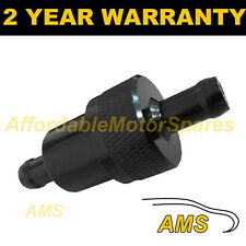 "BLACK 1/4"" METAL UNIVERSAL IN LINE FUEL FILTER ANODISED ALUMINIUM"