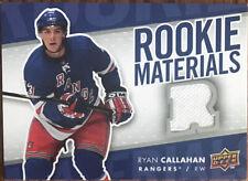 2007-08 Upper Deck Rookie Materials Ryan Callahan RM-RC New York Rangers