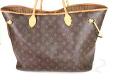 LOUIS VUITTON Tote Monogram Neverfull MM Leather Shoulder Bag Designer Gift