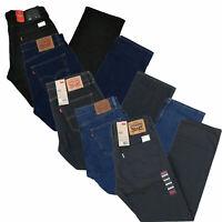 Levis 505 Jeans Mens Straight Fit Denim Pants Casual Bottoms Patch Zipper Fly