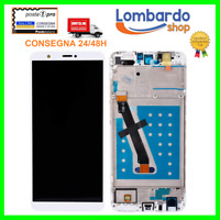 DISPLAY LCD TOUCH SCREEN SCHERMO PER HUAWEI P SMART FIG-LX1 LX2 LX3 BIANCO FRAME