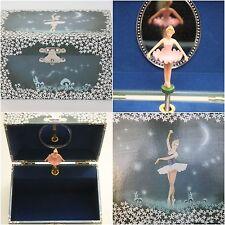 Schmuckkästchen Ballerina Sternenhimmel blau Spieluhr Nacht Schmuckdose Sterne