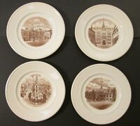 "4 VINTAGE 10.5"" WEDGWOOD ETRURIA OLD LONDON VIEWS All ~ 1941 First Editions!!"