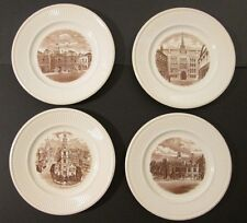 "4 Vintage 10.5"" Wedgwood Etruria Old London Views All ~ 1941 First Editions!"