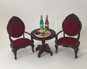 Dolls House Table And Two Chairs