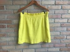 J.Crew Women's Bright Yellow City Mini Linen Skirt - size 2  EUC  FAST SHIP