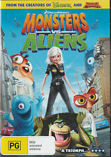 Monsters Vs. Aliens THE MOVIE Region 2 * NEW & SEALED *