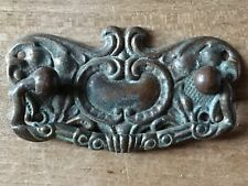 Antique Handle Drawer Pull Solid Brass Chest Cabinet Vintage Salvage Reclaim