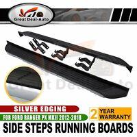 Aluminium Side Steps Fit Ford Ranger Dual Cab 2012-2018 Running Boards Sidesteps