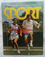 Chris Evert Autographed SPORT Magazine cover - July 1974 ~ No Label - To Andrew