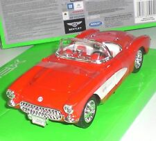 WELLY NEXT MINIATURES VOITURE US CHEVROLET CORVETTE 1957 ECHELLE 1:24 NEUF OVP