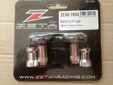 ZETA HANDLEBAR BAR END BAREND PLUGS CAPS 29mm MX ENDURO SUPERMOTO TITANIUM