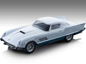 1956 FERRARI 410 SUPER FAST 0483SA WHITE & BLUE 1/18 MODEL TECNOMODEL TM18-160A