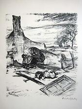 """ERNST BISCHOFF-CULM """"HEIMAT"""" ORIGINAL-LITHOGRAPHIE 1915 SEZESSION BERLIN"""