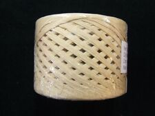 100 Yards Natural Tan Paper Craft Ribbon RAFFIA WRAPHIA Roll Heavy Duty Craft
