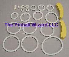 1979 Williams Time Warp Pinball Rubber Ring Kit WITH BANANA FLIPPER RUBBERS