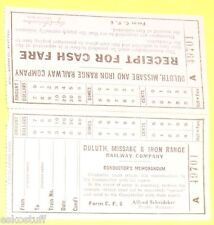 Duluth Missabe & Iron Range Railway Company 1950s Conductor's Memo/Receipt  SEE!