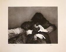 Pierre Risch gravure originale signée Prix des jeunes Peintres Genève Abou p 475