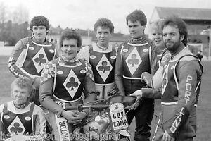 Speedway Photograph Team Newcastle Federation Diamonds Press Day 30th March 1987