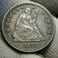 1872 Seated Liberty Quarter 25 Cents, Rare Key Date -  Very Nice Coin (9915)
