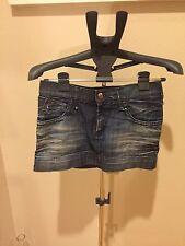 Authentic MISS SIXTY Blue Denim Short Mini Jean Skirt Size S Small