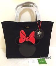 New Kate Spade Minnie Mouse Francis Shopper Tote Bag Black pxru6509