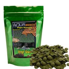 AQUAmunch Vege Disc Algae Wafer Aquarium Catfish Fish Food 1kg Spirulina 10mm