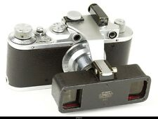Leica II Mod  D Chrome  Lens Elmar 3.5/5cm Stereoly Vorsatz Stereo