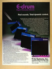 1984 E-mu Emu E-drum Digital Percussion Module Pad vintage print Ad