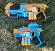 2 Nerf Phoenix LTX Lazer Tag Guns 2008 Tiger Electronics TESTED WORKS GREAT