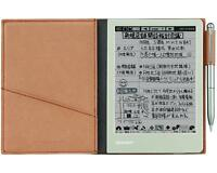 SHARP Electronic Memo Pad WG-S30-T Brown FREE shipping Worldwide