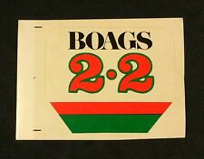 'New' 1980's Boags 2.2 b Light Beer Point of sale sticker. Unused 6.5 X 5 cm