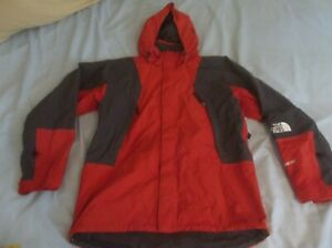 The North Face Mountain Light Parka Gore-tex Jacket Coat Red TNF Red Medium READ